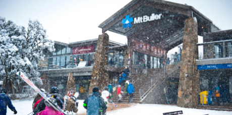Mt Buller Village Snowing